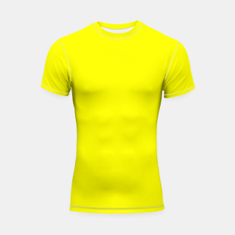Thumbnail image of Bright Fluorescent Yellow Neon Shortsleeve rashguard, Live Heroes