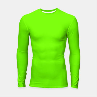 Thumbnail image of Bright Fluorescent Green Neon Longsleeve rashguard , Live Heroes