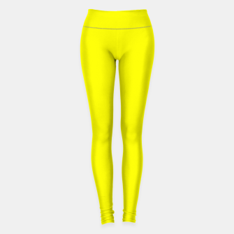 Thumbnail image of Bright Fluorescent Yellow Neon Leggings, Live Heroes