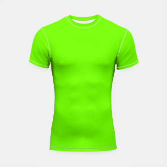Thumbnail image of Bright Fluorescent Green Neon Shortsleeve rashguard, Live Heroes