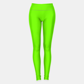 Thumbnail image of Bright Fluorescent Green Neon Leggings, Live Heroes
