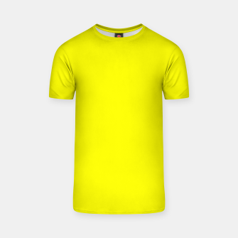 Thumbnail image of Bright Fluorescent Yellow Neon T-shirt, Live Heroes