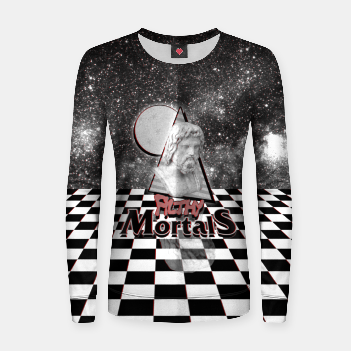 Foto ah these mortals and their futile black and white clothing Women sweater - Live Heroes