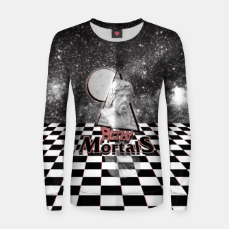 Miniatur ah these mortals and their futile black and white clothing Women sweater, Live Heroes
