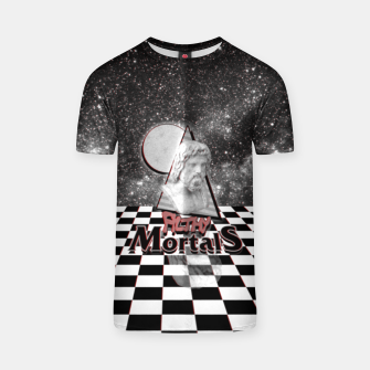 Thumbnail image of ah these mortals and their futile black and white clothing T-shirt, Live Heroes