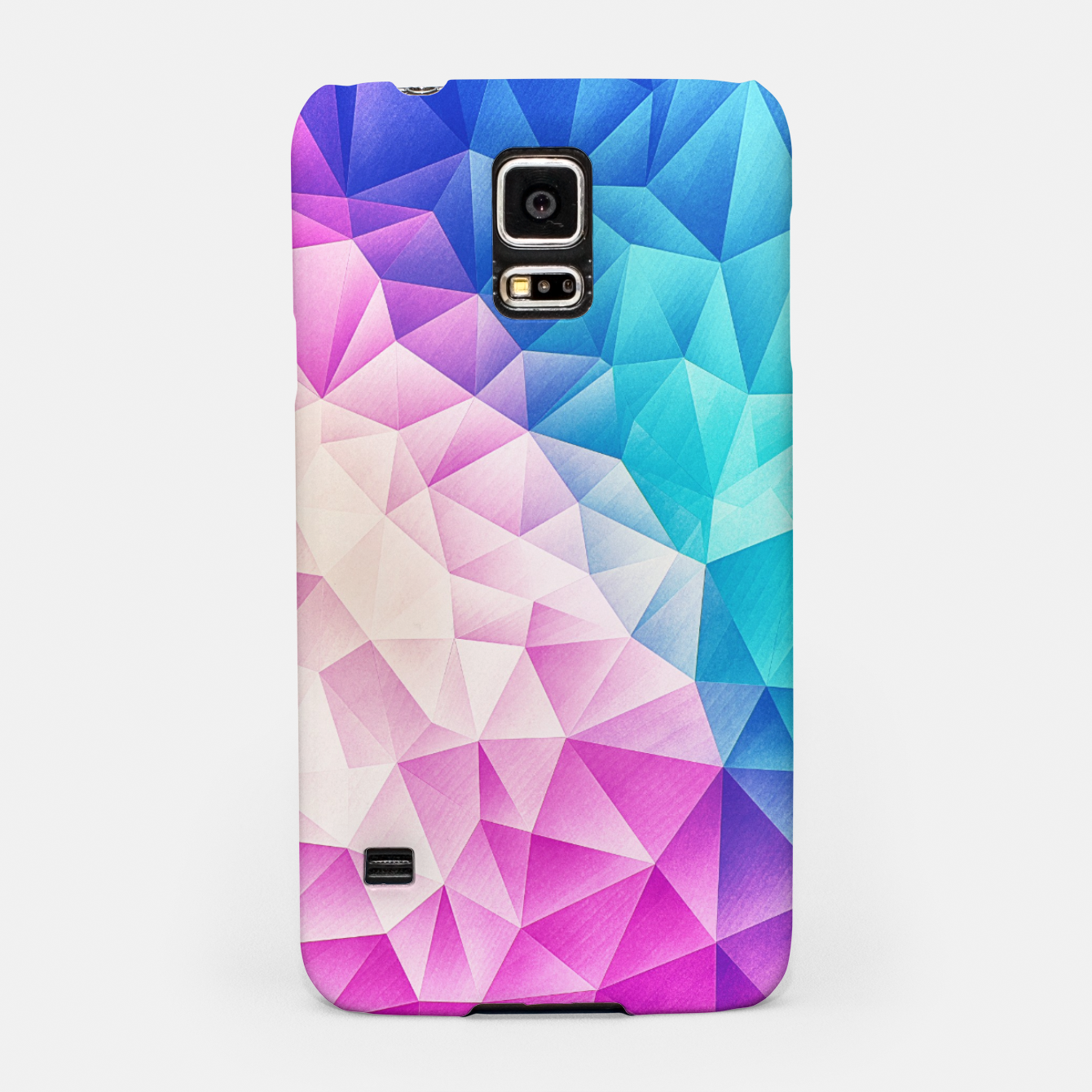 Image de Pink - Ice Blue / Abstract Polygon Crystal Cubism Low Poly Triangle Design Samsung Case - Live Heroes
