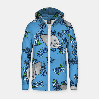 Thumbnail image of Elephant Blues Zip up hoodie, Live Heroes