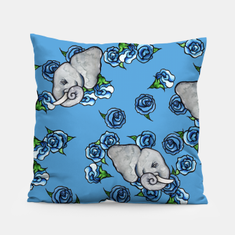 Thumbnail image of Elephant Blues Pillow, Live Heroes