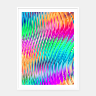 Thumbnail image of Abstract Design Framed poster, Live Heroes