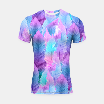 Thumbnail image of Mermaid Colored Leaves Vibes #1 #decor #art Shortsleeve rashguard, Live Heroes