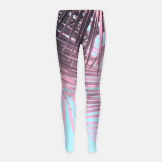 Thumbnail image of Palm Leaves Summer Vibes #7 #tropical #decor #art Kinder-Leggins, Live Heroes