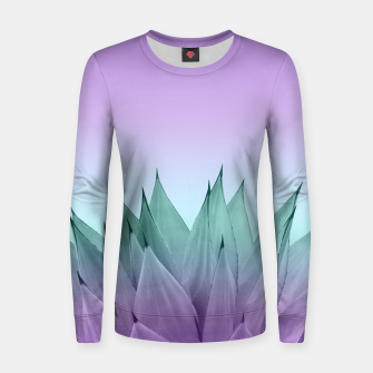 Thumbnail image of Agave Vibes #7 #tropical #decor #art Frauen sweatshirt, Live Heroes