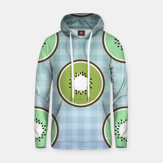 Thumbnail image of Kiwi summer fruit and gingham Hoodie, Live Heroes