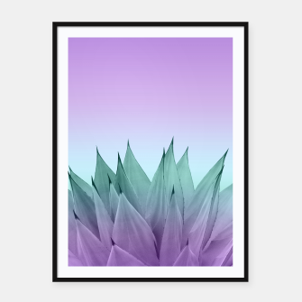 Thumbnail image of Agave Vibes #7 #tropical #decor #art Plakat mit rahmen, Live Heroes