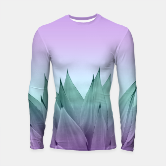 Thumbnail image of Agave Vibes #7 #tropical #decor #art Longsleeve rashguard, Live Heroes