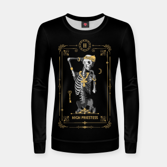 Thumbnail image of High Priestess II Tarot Card Women sweater, Live Heroes