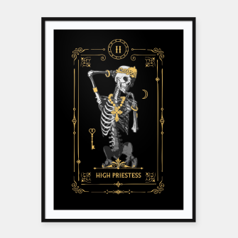 Thumbnail image of High Priestess II Tarot Card Framed poster, Live Heroes