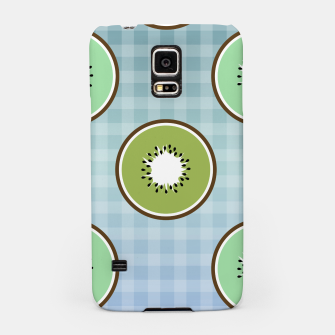 Thumbnail image of Kiwi summer fruit and gingham Samsung Case, Live Heroes