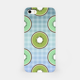 Thumbnail image of Kiwi summer fruit and gingham iPhone Case, Live Heroes