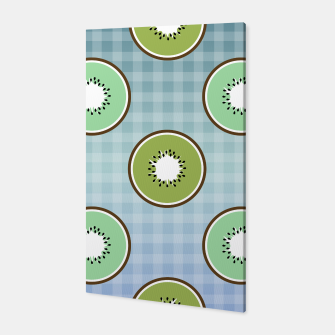 Thumbnail image of Kiwi summer fruit and gingham Canvas, Live Heroes