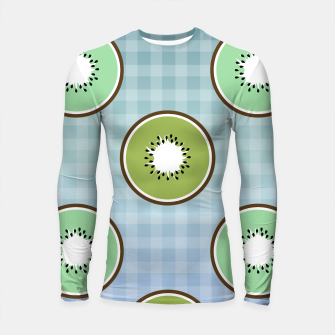 Thumbnail image of Kiwi summer fruit and gingham Longsleeve rashguard , Live Heroes