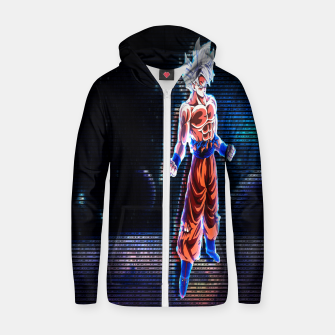 Thumbnail image of DRAGON BALL SUPER GOKU ULTRA MASTER INSTINCT 3D hologram Zip up hoodie, Live Heroes