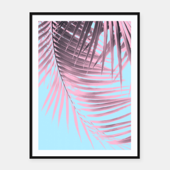 Thumbnail image of Palm Leaves Summer Vibes #7 #tropical #decor #art Plakat mit rahmen, Live Heroes