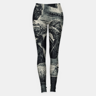 Thumbnail image of Black Caestus Gladiator no logo Leggings, Live Heroes