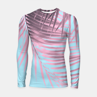 Thumbnail image of Palm Leaves Summer Vibes #7 #tropical #decor #art Longsleeve rashguard, Live Heroes