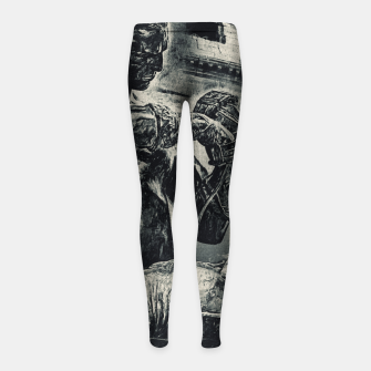 Thumbnail image of Black Caestus Gladiator no logo Girl's leggings, Live Heroes