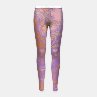 Thumbnail image of Orange Creamsicle Girl's leggings, Live Heroes