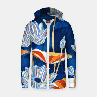 Thumbnail image of Bold Botanical Zip up hoodie, Live Heroes