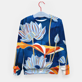 Thumbnail image of Bold Botanical Kid's sweater, Live Heroes