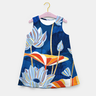 Thumbnail image of Bold Botanical Girl's summer dress, Live Heroes