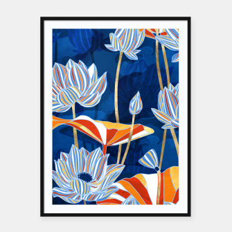Thumbnail image of Bold Botanical Framed poster, Live Heroes