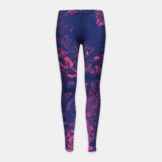 Thumbnail image of Pink and Purple Tendrils Girl's leggings, Live Heroes