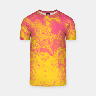 Thumbnail image of Pink and Yellow Marble T-shirt, Live Heroes