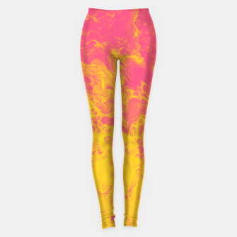 Thumbnail image of Pink and Yellow Marble Leggings, Live Heroes