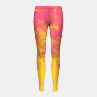 Thumbnail image of Pink and Yellow Marble Girl's leggings, Live Heroes