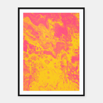 Thumbnail image of Pink and Yellow Marble Framed poster, Live Heroes
