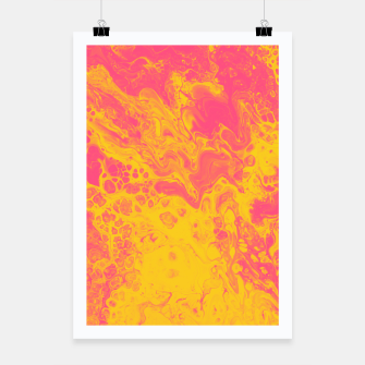 Thumbnail image of Pink and Yellow Marble Poster, Live Heroes