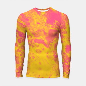 Thumbnail image of Pink and Yellow Marble Longsleeve rashguard , Live Heroes