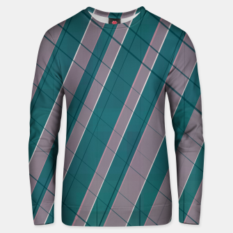 Thumbnail image of Graphic stripes in rose lilac teal  Unisex sweater, Live Heroes