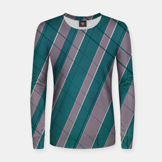 Thumbnail image of Graphic stripes in rose lilac teal  Women sweater, Live Heroes