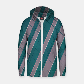 Thumbnail image of Graphic stripes in rose lilac teal  Zip up hoodie, Live Heroes