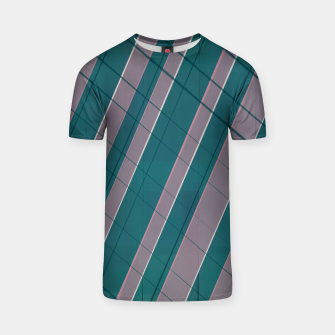 Thumbnail image of Graphic stripes in rose lilac teal  T-shirt, Live Heroes