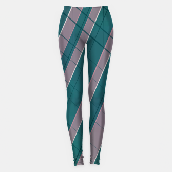 Thumbnail image of Graphic stripes in rose lilac teal  Leggings, Live Heroes