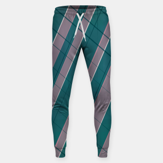 Thumbnail image of Graphic stripes in rose lilac teal  Sweatpants, Live Heroes