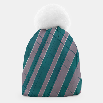 Thumbnail image of Graphic stripes in rose lilac teal  Beanie, Live Heroes