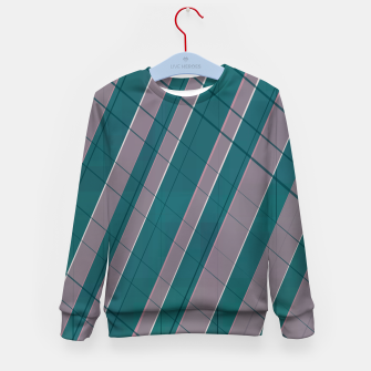Thumbnail image of Graphic stripes in rose lilac teal  Kid's sweater, Live Heroes